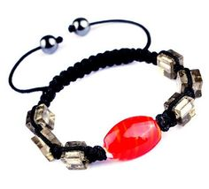 $1.99  45mm Red Nylon Lampwork Hematite Bracelets Jewelry Gift #Eozy