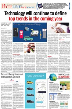 Technology will continue to define top trends in the coming year --The NATION's Byteline and Technology, December 30, 2014