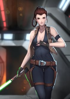 """Leia Organa, leader of the Resistance to Restore the Republic and Jedi aspirant, enroute to confront Darthaboard the Executor. From the """"There is Another"""" infinities setting. Star Wars Rpg, Rey Star Wars, Star Wars Jedi, Star Wars Concept Art, Star Wars Fan Art, Star Wars Characters Pictures, Rainbow Six Siege Art, Star Wars Girls, Star Wars Wallpaper"""