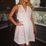 Eyelet shirt dress available online!