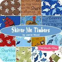 Shiver Me Timbers Fat Quarter Bundle Jamie Wood for Clothworks Fabrics - when one pirate quilt just isn't enough...