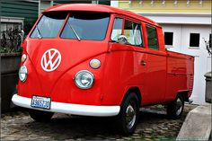 Cherry VW truck: loved to cruise in this with the windows down listening to some classic buddy holly