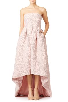 Rent Dusty Rose Leopard High-Low Gown by Cynthia Rowley for & only at Rent the Runway. Blush Dresses, Bridesmaid Dresses, Prom Dresses, Formal Dresses, Bridesmaids, High Low Gown, Engagement Outfits, Engagement Session, Cynthia Rowley
