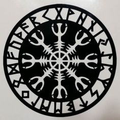 Helm Of Awe Viking Celtic Rune Aegishjalmur Runic | Die Cut Vinyl Sticker Decal