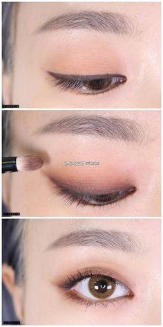 Excellent Pics Makeup style korean Popular, Best Makeup Tutorials And Beauty Tip. - Excellent Pics Makeup style korean Popular, Best Makeup Tutorials And Beauty Tips From The Web. Make Up Tutorial Eyeshadows, Smokey Eye Makeup Tutorial, Eyeshadow Tutorials, Make Up Tutorial Eyebrows, Easy Eye Makeup, Easy Makeup Looks, Easy Makeup Tutorial, Korean Eyebrows, Korean Eye Makeup