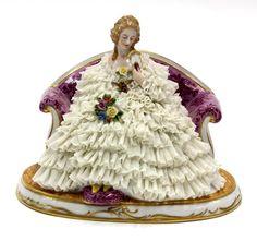 German porcelain dresden lace