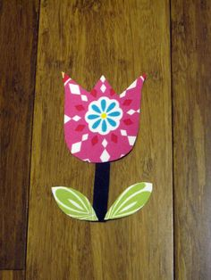Small Spring Tulip Iron On Applique by LilBearsandLadybugs on Etsy, $2.25