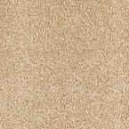 Carpet Sample - Lavish II - Color New Dawn Texture 8 in. x 8 in., Beige/Ivory