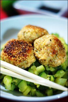 Boulettes de saumon et wasabi