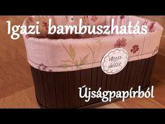 DIY! Bambusz tárolódoboz újságpapírból kerekített oldalakkal #2 - YouTube
