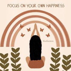 """Lou's Instagram post: """"'Focus on your own happiness.' Prints and other products available via link in bio or directly from the highlights!"""" Focus On Yourself, Artist Names, Highlights, Instagram Posts, Happy, Prints, Movie Posters, Happiness, Illustrations"""