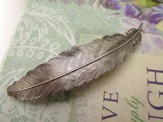 Bridal Hair Clips Feather barrette Hair by MyElegantThings on Etsy