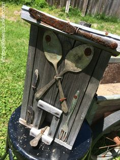 Awesome Upcycled Birdhouse Made from Old Junk!!