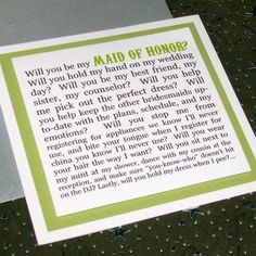 Cute way to ask your best friend to be your maid of honor