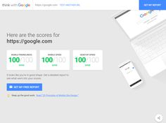 Mobile Website Speed Testing Tool by Google
