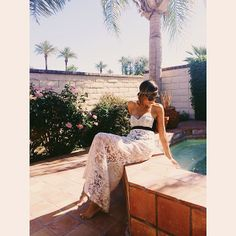Taye of StuffSheLikes.net wears Gypsy05 Inanna Embroidered Maxi Skirt while in the Coachella Valleys during the 2014 Festival