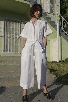 Look extra crisp this summer in Toit Volant. The Von Von is the white button up of jumpsuits. It's classic, clean and goes with everything.