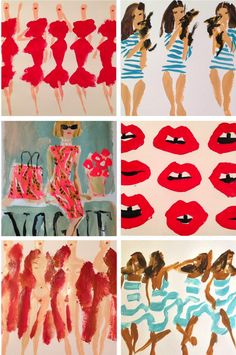 Pop fashion sketches by Donald Robertson.