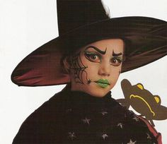 Maquillaje de bruja para niñas. Halloween 2010 - Disfraces caseros y tiendas - Cumpleaños infantiles y fiestas - Charhadas.com
