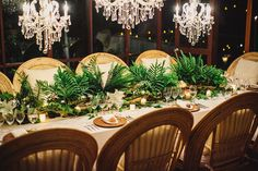 Fern and Branch Centerpiece | photography by http://www.natasjakremersblog.com/