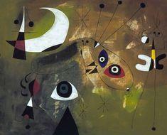 """Joan Miró i Ferrà. """"Personatge i lluna"""" 1950"""