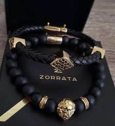 The Zorrata gold and black essentials. Available exclusively. Bracelets For Men, Jewelry Bracelets, Men's Jewelry, Jewelry Making, Black Gold Jewelry, Copper Jewelry, Men's Accessories, Beaded Jewelry, Handmade Jewelry