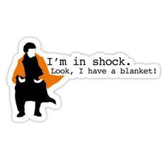 'Sherlock Shock Blanket' Sticker by scarfasaurus - geek culture - Sherlock Fandom, Sherlock Tumblr, Sherlock Holmes Bbc, Shinee Sherlock, Sherlock Holmes Wallpaper, Sherlock Holmes Dibujos, Sherlock Holmes Funny, Sherlock Holmes Robert Downey, Sherlock Poster