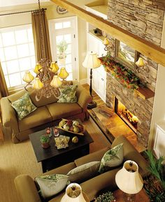 fireplace stone -- want to do this