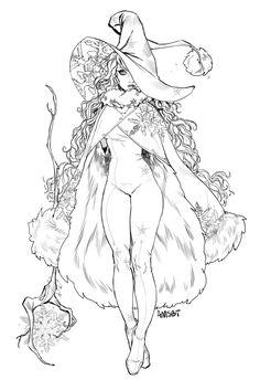 Winter Witch, Amanda Schank on ArtStation at https://www.artstation.com/artwork/gyEXL