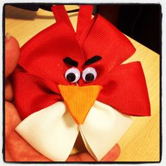 DIY hair bows for girls, toddlers, and infants :) Angry Birds. Ginana Belle's Bowtique & Crafts