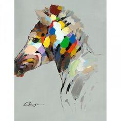 Zebra Head Canvas Wall Art