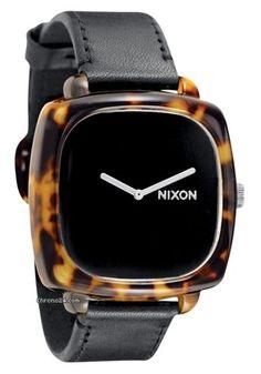 Nixon The Shutter Tortoise / Black Ladies´ Watch $156 #watch #watches black leather bracelet