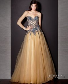 Beaded Tulle Ball Gown, Style 157824