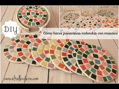 Cómo hacer posavasos redondos con mosaico - YouTube