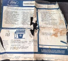 1988 Ford Thunderbird Turbo Coupe - window sticker. $19,425 USD. Concept Board, Ford Thunderbird, Car Ford, Window Stickers, Cutaway