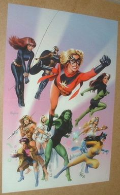 MS Marvel x Men Storm Rogue She Hulk Black Widow Marvel Comics Poster | eBay