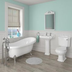 Oxford Traditional Free Standing Roll Top Slipper Bath Suite at Victorian Plumbing UK Simple Bathroom Designs, Bathroom Design Small, Bathroom Interior Design, Grey Bathrooms, Modern Bathroom, Master Bathroom, Beige Bathroom, Bathroom Laundry, Master Shower