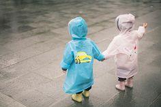 kids under the rain