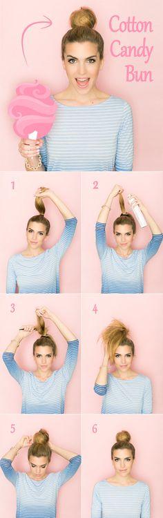 Chongo alto estilo bailarina algodón de azúcar | 5 Tutoriales de Peinados Fáciles para cabello corto a los hombros | El Blog de una Novia | #peinado #facil #tutorial