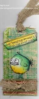 Stamping Sue: Bird Crazy!!! on plaid! Tim Holtz 12 tags of 2015 - June