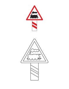 Imprimer des coloriages panneaux de la route : panneau de