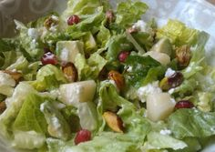 Vickys Pear & Pomegranate Salad Recipe -  Yummy this dish is very delicous. Let's make Vickys Pear & Pomegranate Salad in your home!