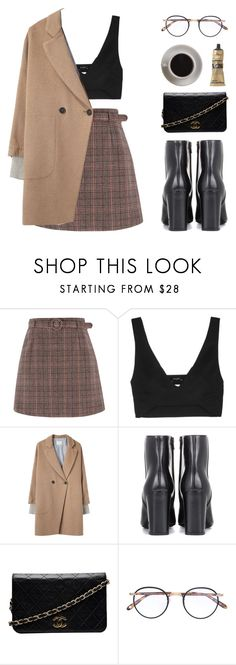 """HER"" by arditach ❤ liked on Polyvore featuring Atlein, Band of Outsiders, Yves Saint Laurent, Chanel, Garrett Leight, Bunn and Aesop"