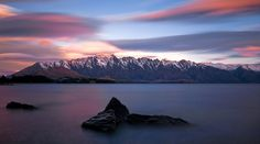 The Remarkables, a beautiful range across Lake Wakatipu from Queenstown...