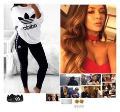 """""""🤘🏼Olivia 🤘🏼 (Being The Elite: 47) 1D? Yeah. One Hełl Of A D"""" by banks-on-it ❤ liked on Polyvore featuring adidas, Liberty and Humble Chic"""