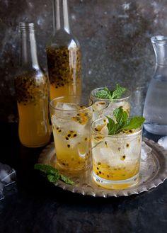 Passionfruit Cordial   Drizzle & Dip