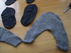 Slippers from Felted Sweater by idiggoodfood, via Flickr