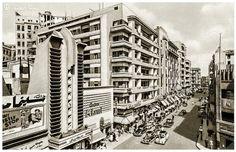 Cinema Miami and Cairo, Egypt, 1946 Old Egypt, Cairo Egypt, American Splendor, Life In Egypt, Miami, Streamline Moderne, Vintage Pictures, Egyptian, Facade