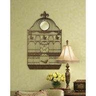 "Aviary Antique Bronze 35"" High Metal Wall Decor"