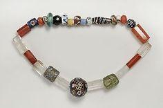 Beads from Birka grave Bj 515. In the HIstoriska Museet, Stockholm.